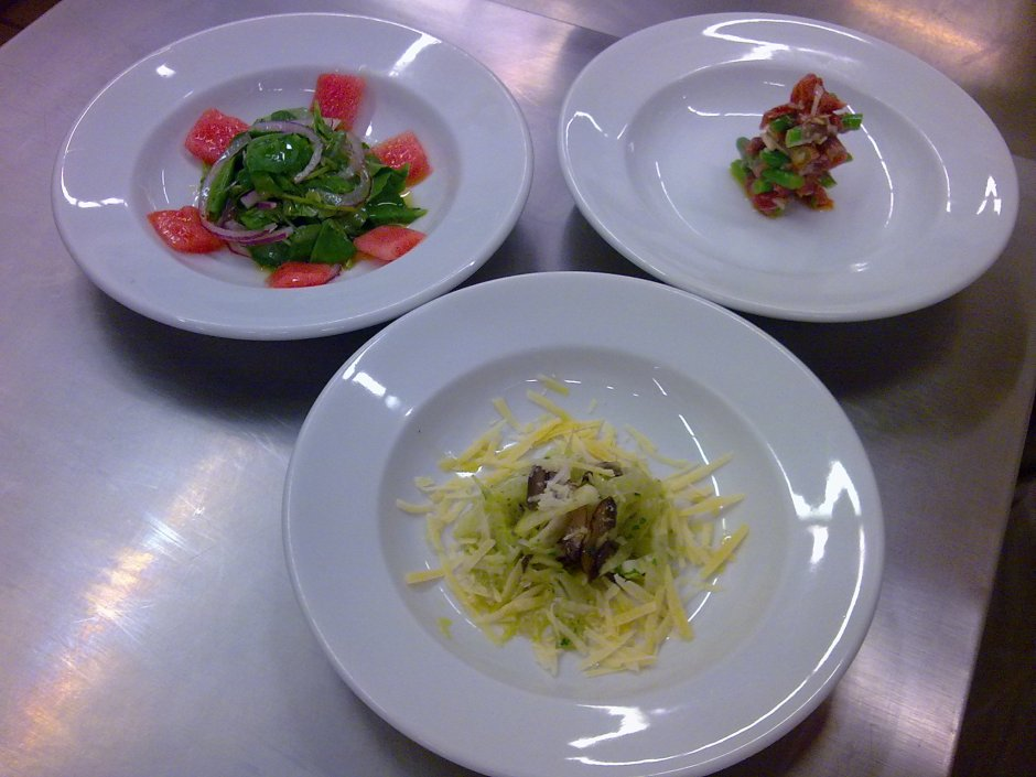 Saladas de hoje