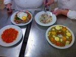 várias versões de arroz com suã de porco, cuscuz paulista, virado à paulista e doce de abóbora com coco
